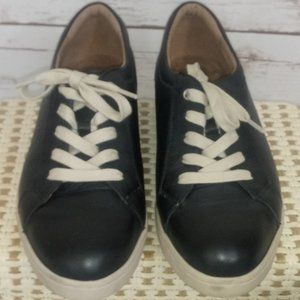 Clark Artisan Black Leather Sneakers Size 7.5